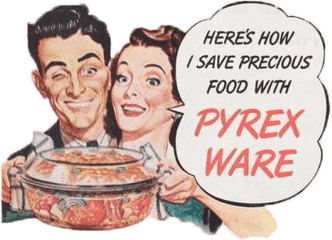 vintage ad image: here's how i save precious food with PyrexWare