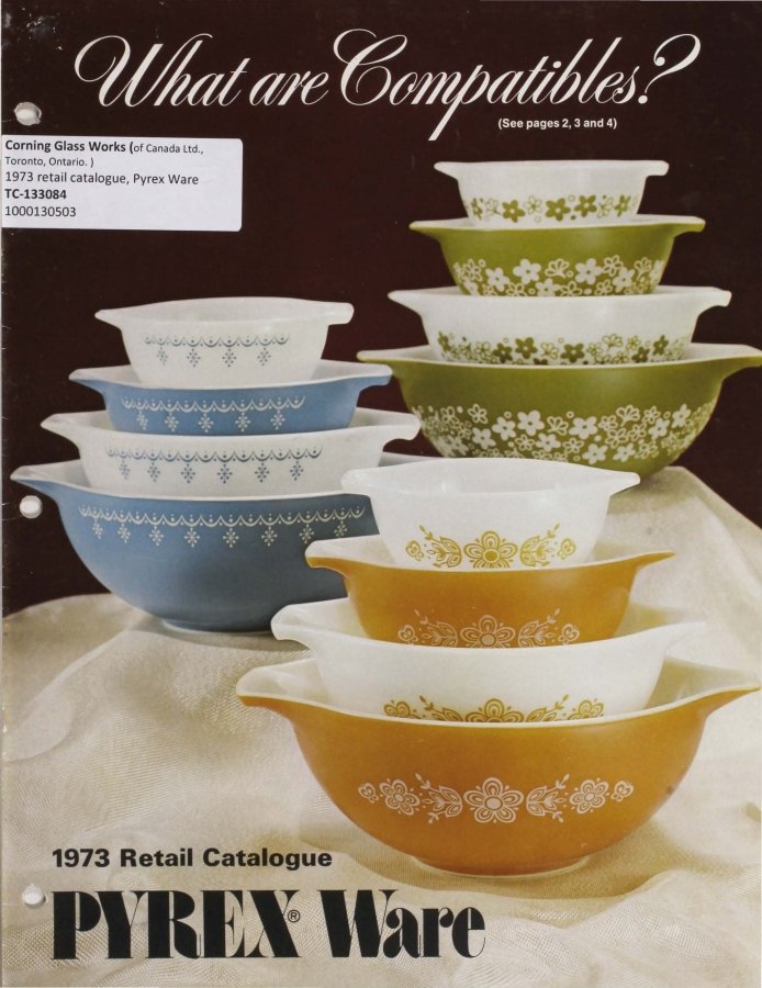 What are Compatibles? 1973 retail catalogue: Pyrex Ware.