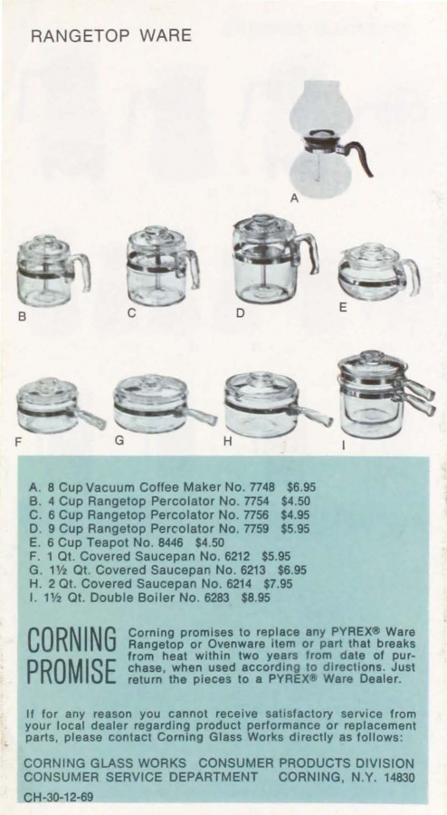 Page 8 of Pyrex ware 1970.