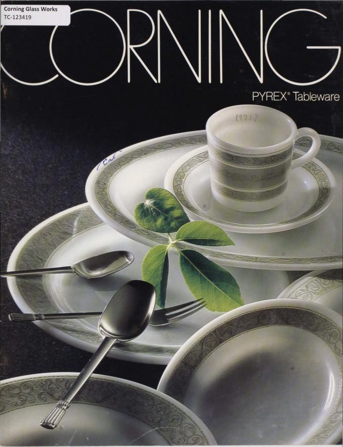 Corning Pyrex tableware.