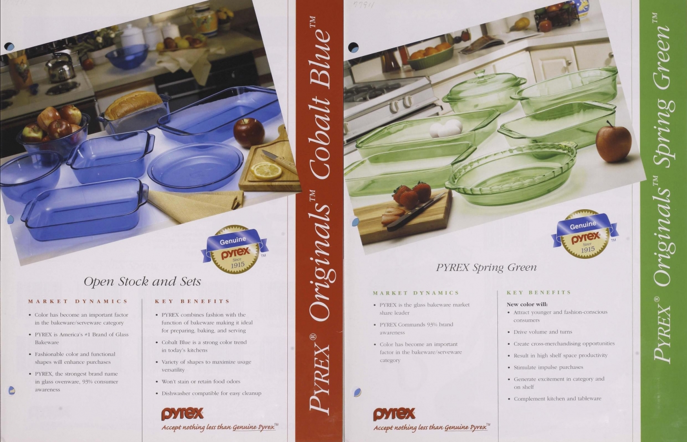 """Pyrex Originals: Cobalt Blue"" and ""Pyrex Originals: Spring Green"""