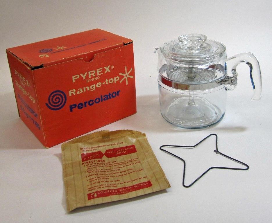 Pyrex Percolator in Original Box
