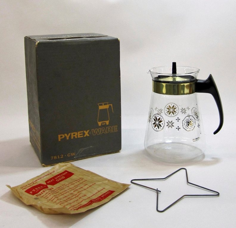"Pyrex Ware ""Town and Country"" Carafe Set in Original Box"
