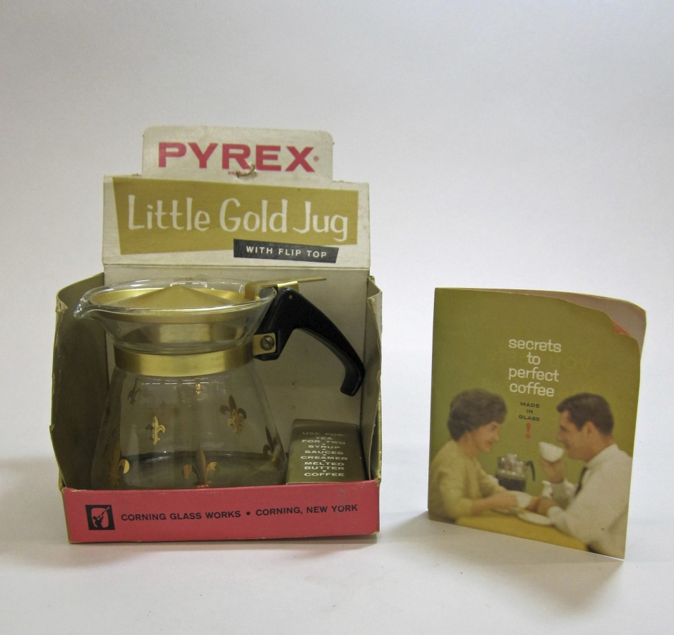 Pyrex Little Gold Jug in Original Box