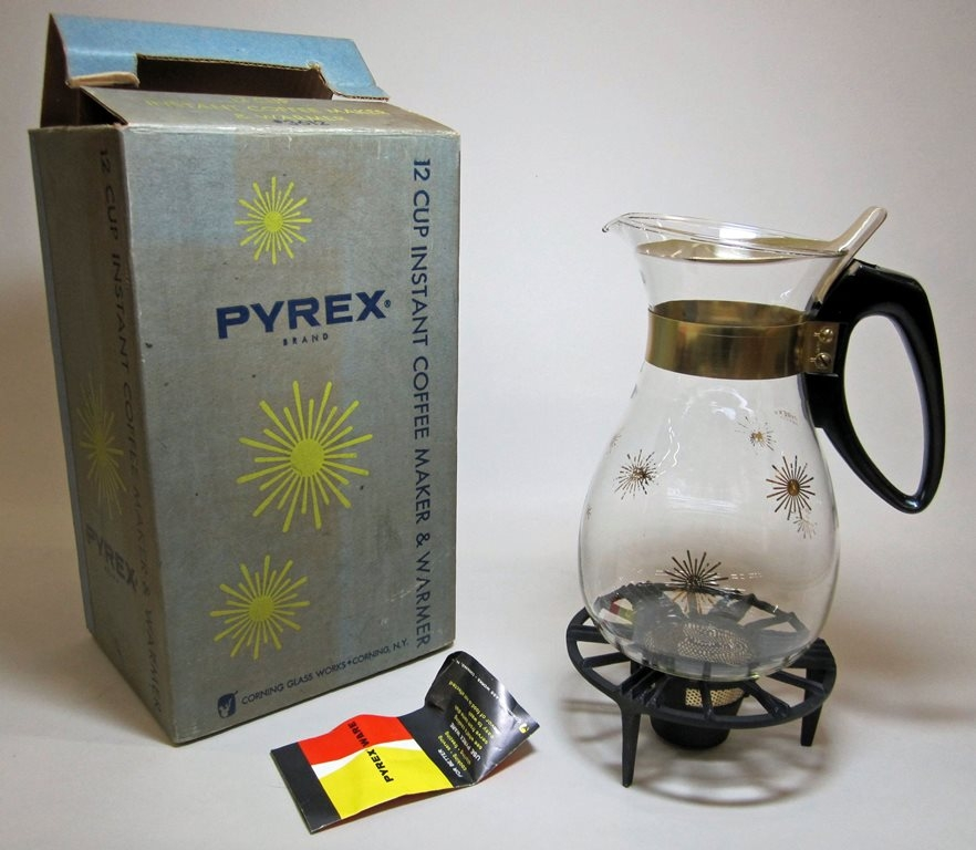 Pyrex Instant Coffee Maker with Candle Warmer in Original Box