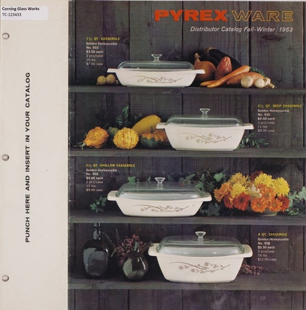 Pyrex ware distributor catalog, Fall-Winter 1963