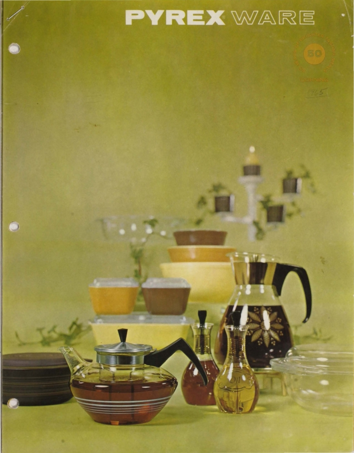 """""""Pyrex ware: 50 years of brighter tasting meals"""""""