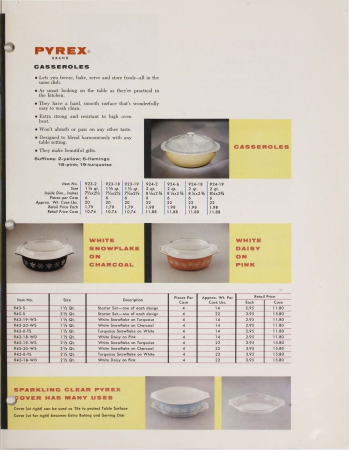 Page 7 from Dealer Catalog: Pyrex 1957