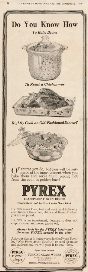 """Do you know how to bake beans, to roast a chicken, or rightly cook an old-fashioned dinner?"" Published in People's Home Journal, September 1919. CMGL 140317"