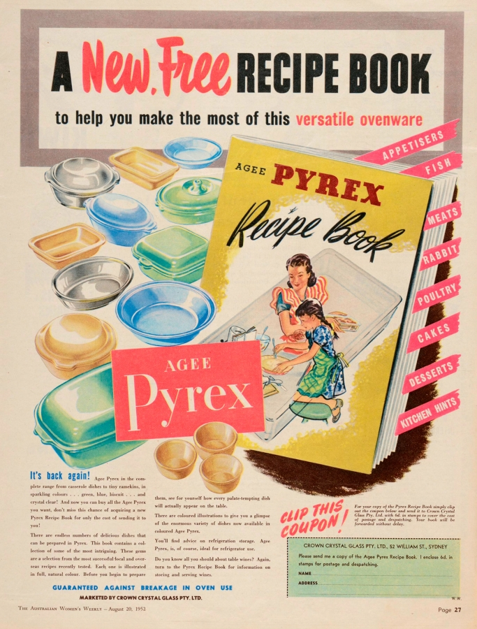 A new free recipe book to help you make the most of this versatile ovenware: Agee Pyrex