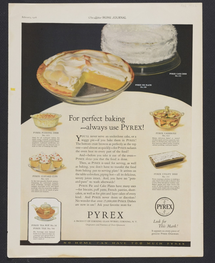 For perfect baking, always use Pyrex!