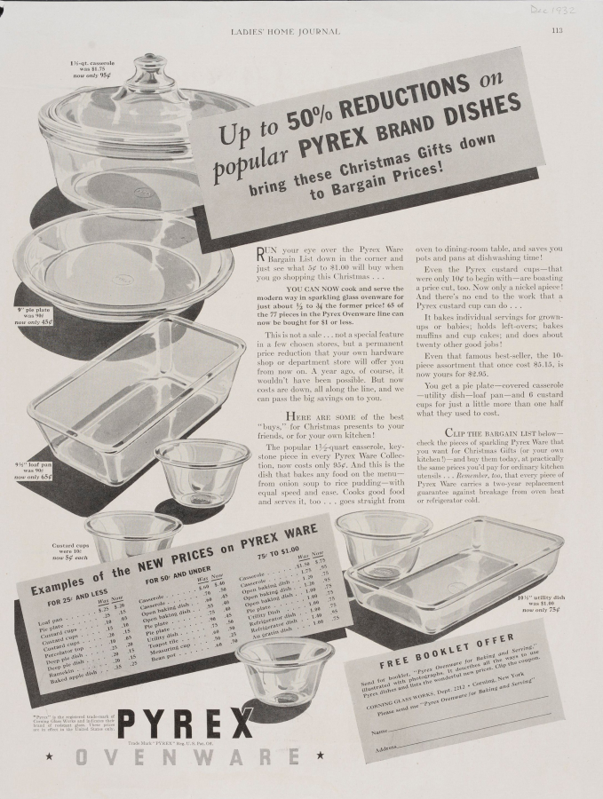 Up to 50% reductions on popular Pyrex brand dishes bring these Christmas gifts down to bargain prices!