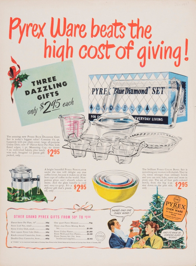 Pyrex ware beats the high cost of giving!