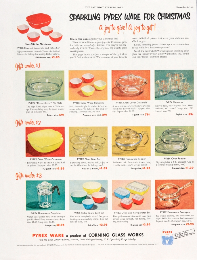 Sparkling Pyrex Ware for Christmas