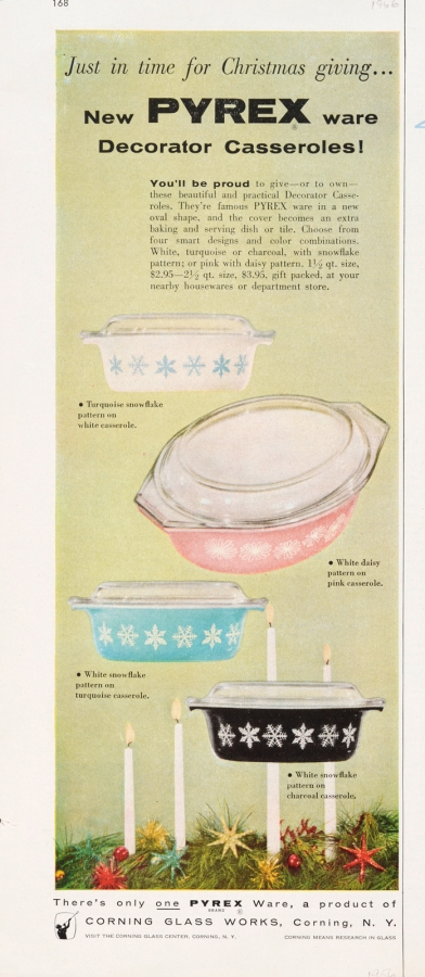 Just in time for Christmas giving... New Pyrex ware Decorator Casseroles!