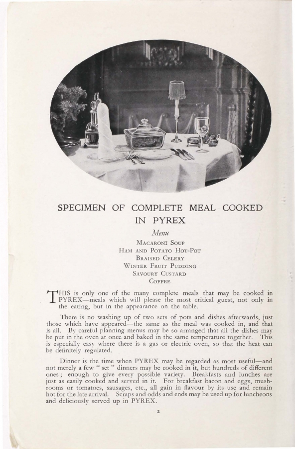 Page 2 from Pyrex modern cookery book