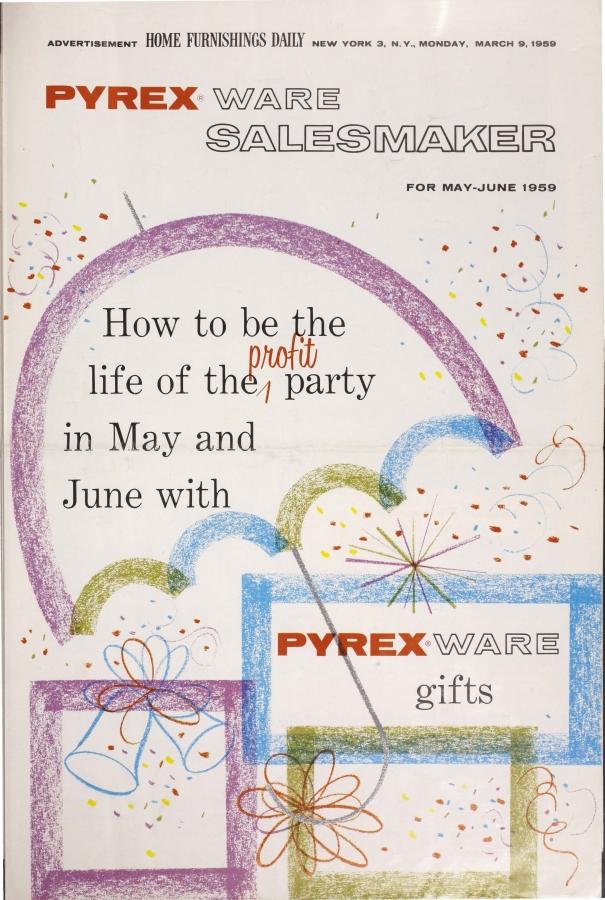 """Pyrex Ware Salesmaker For May-June 1959"""