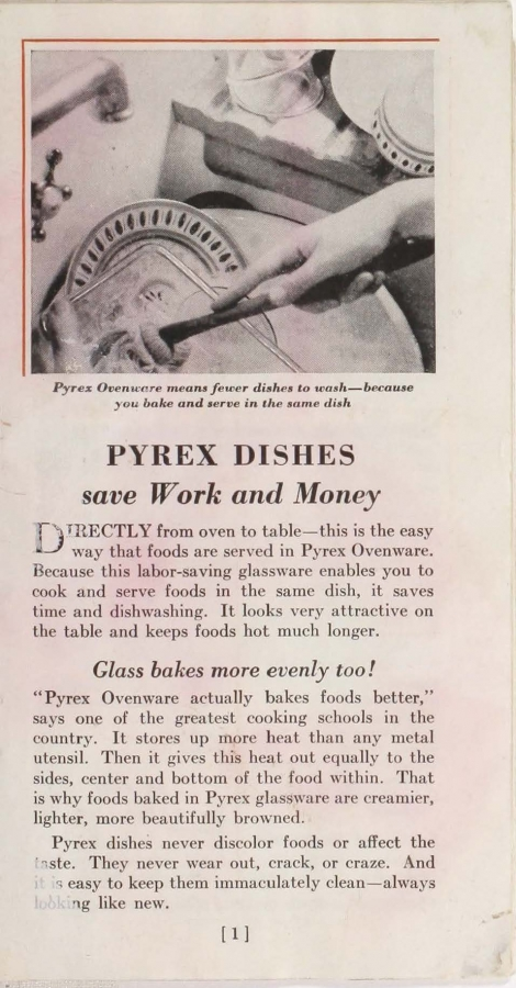 "Page 1 from ""Pyrex ovenware for baking and serving"""