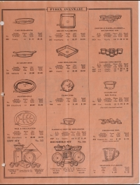 Illustrated price list of Pyrex Ovenware, teapots, nursing bottles: Western, January 1928