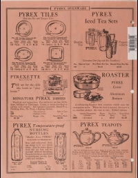 Illustrated price list of Pyrex Ovenware, teapots, nursing bottles: Canadian, January 1928