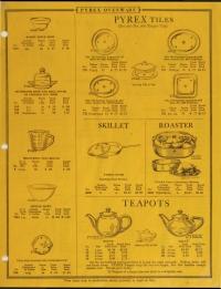 Illustrated price list of Pyrex ovenware, teapots, nursing bottles: Western, January 1929