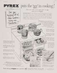 """Pyrex puts the 'see' in cooking!"""