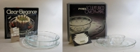 Pyrex Clear Elegance and Sculptured Ovenware with original boxes