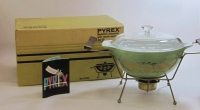 "Pyrex ""Medallion"" 2-1/2 Quart Casserole with Candle Warmer in Original Box"