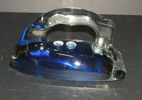 "Blue ""Silver Streak"" Pyrex Iron Insert"