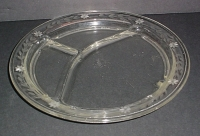 Engraved Pyrex 3-section Grill Plate