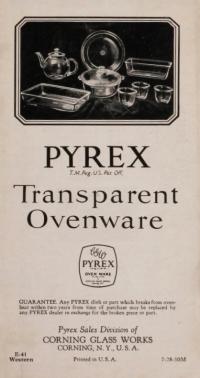 Pyrex: transparent ovenware, E-41 Western