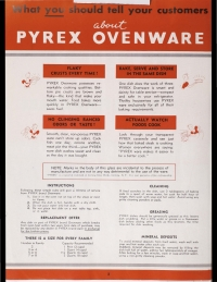 "Page 2 from ""Pyrex brand Ovenware, Flameware: retail prices effective January 1941"""
