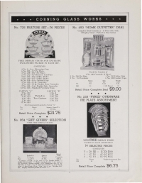 Page 9 from Pyrex brand Ovenware and Flameware for top of stove use: price list, effective Nov. 1, 1937