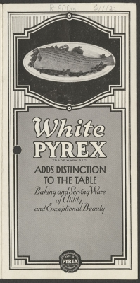 White Pyrex adds distinction to the table