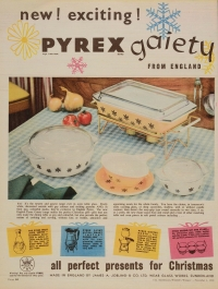 New! Exciting! Pyrex gaiety from England