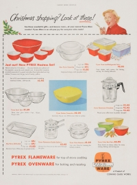 Christmas shopping? Look at these! [Pyrex advertisement]