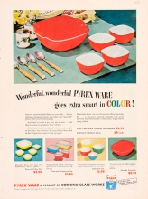 Wonderful, wonderful Pyrex Ware goes extra smart in COLOR!