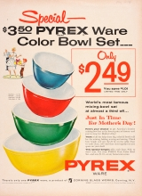 Special--$3.50 Pyrex Ware Color Bowl Set