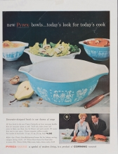 New Pyrex bowls...today's look for today's cook