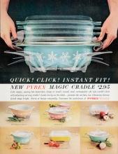 Quick! Click! Instant fit! New Pyrex Magic Cradle $2.95