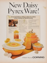 New daisy Pyrex ware! [advertisement]